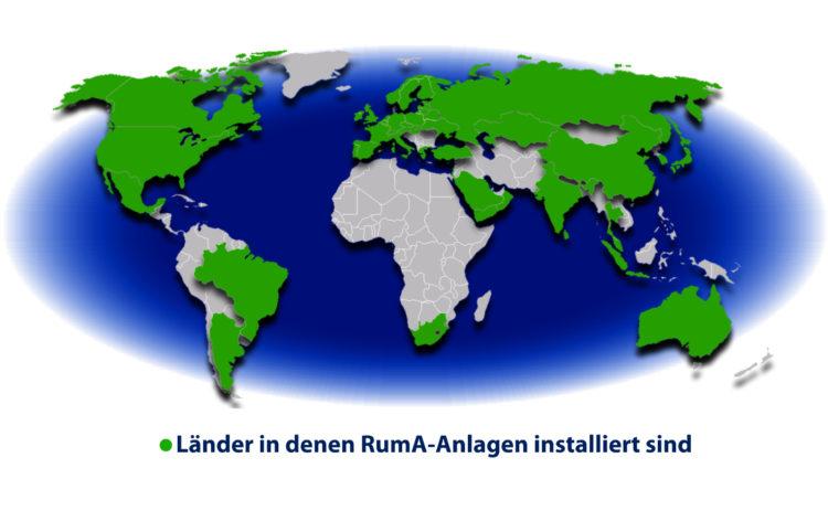 Weltweit sind RumA-Anlagen erfolgreich im Einsatz.